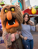 Tina Fey with Sweetums from the Muppets - Florida