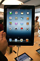 March 16, 2012, Tokyo, Japan - The main screen of the new iPad with better definition than its predecessor. .Fans lined up overnight outside the Apple store in Ginza, to buy the new iPad. Japan was one of the first countries where Apple fans could get their hands on the new iPad.