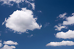 Cumulus clouds with blue sky