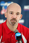 10 December 2005: Head coach Jeremy Fishbein. The University of New Mexico Lobos held a press conference the day before playing in the NCAA Men's College Cup, the Division I Championship soccer game, at SAS Stadium in Cary, NC..