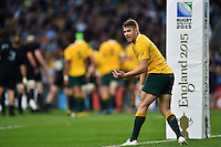 Drew Mitchell of Australia speaks to his team-mates. Rugby World Cup Final between New Zealand and Australia on October 31, 2015 at Twickenham Stadium in London, England. Photo by: Patrick Khachfe / Onside Images