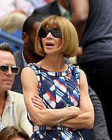 FLUSHING NY- SEPTEMBER 05: Anna Wintour is seen watching Venus Williams Vs Pliskova on Arthur Ashe Stadium at the USTA Billie Jean King National Tennis Center on September 5, 2016 in Flushing Queens. Credit: mpi04/MediaPunch