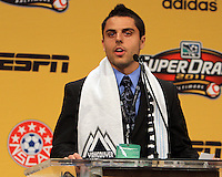 Michael Nanchoff at the 2011 MLS Superdraft, in Baltimore, Maryland on January 13, 2010.