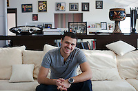 Moscow, Russia, 08/03/2011..Azerbaijani rock singer Emin Agalarov in his Moscow apartment. Agalarov has released 5 albums, and his first UK album &quot;Memory&quot; is due for release. He is also the commercial director of the Crocus International company, founded by his father.