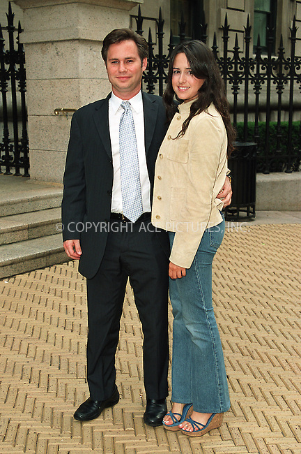 """Jason Binn and wife attending the party """"Cocktails in the Garden"""" at Cooper-Hewitt National Design Museum on Upper East Side in New York. July 24, 2002. Please byline: Alecsey Boldeskul/NY Photo Press.   ..*PAY-PER-USE*      ....NY Photo Press:  ..phone (646) 267-6913;   ..e-mail: info@nyphotopress.com"""