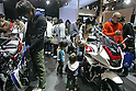 Mar 26, 2010 - Tokyo, Japan - Visitor sit on Honda motorbikes on display during the 37th Tokyo Motorcycle Show at Tokyo Big Sight on March 26, 2010. The event is the Japan's largest motorcycle exhibition and it will be held until March 28 this year. (Photo Laurent Benchana/Nippon News)