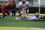 Lafayette High's Demarkous Dennis (5) runs vs. Laurel in the MHSAA Class 4A championship game at Mississippi Veterans Memorial Stadium in Jackson, Miss. on Saturday, December 3, 2011. Lafayette won 39-29, the team's 32 straight win, to capture their second consecutive state championship.