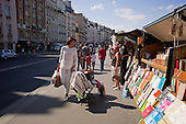 Paris, France<br /> August 12, 2011<br /> <br /> Streets of Paris in mid-August.
