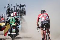 Matthias Br&auml;ndle (AUT/Trek-Segafredo) chasing through the dust<br /> <br /> 115th Paris-Roubaix 2017 (1.UWT)<br /> One Day Race: Compi&egrave;gne &rsaquo; Roubaix (257km)