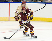 Isaac MacLeod (BC - 7), David Grun (Duluth - 27) - The Boston College Eagles defeated the University of Minnesota Duluth Bulldogs 4-0 to win the NCAA Northeast Regional on Sunday, March 25, 2012, at the DCU Center in Worcester, Massachusetts.