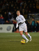 Lorient, France. - Sunday, February 8, 2015:  Lauren Holiday (12) of the USWNT. France defeated the USWNT 2-0 during an international friendly at the Stade du Moustoir.