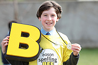 NO FEE PICTURES.8/3/12 Winner Edward Collins, St Mary's NS, Donnybrook, taking part in the Dublin County final, part of the overall Eason 2012 Spelling Bee, held at St Olaf's NS, Dundrum. .For further details visit www.easons.com/spellingbee and stay tuned to RTE 2fm. Picture:Arthur Carron/Collins