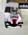 17 December 2010:  Bree Schaaf pilots her 2-man bobsled for the USA, finishing 5th at the Viessmann FIBT World Cup Bobsled Championships in Lake Placid, New York, USA. The event was a Make-up Race from the previous week at Park City where the Women's Bobsled had to be cancelled due to severe snow conditions. Mandatory Credit: Ed Wolfstein Photo