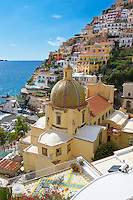 The cathedral of Santa Astuna, Positano, Amalfi coast, Italy