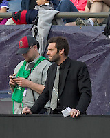 DC United coach, Ben Olsen. In a Major League Soccer (MLS) match, DC United defeated the New England Revolution, 2-1, at Gillette Stadium on April 14, 2012.