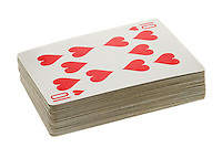 Deck of Playing Cards showing The Ten of Hearts