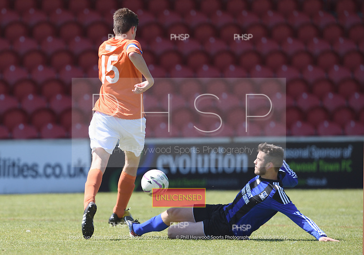 15/05/2016 Hogan Cup Final 2016 U-18's FC Rangers v AFC Blackpool<br />