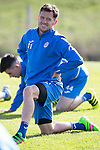 St Johnstone Training&hellip;.30.09.16<br />Danny Swanson pictured during training this morning<br />Picture by Graeme Hart.<br />Copyright Perthshire Picture Agency<br />Tel: 01738 623350  Mobile: 07990 594431