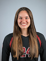 STANFORD, CA - August 8, 2016: The 2016-2017 Stanford Cardinal Women's Volleyball Portraits
