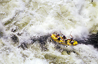 Rafting Zambezi River, Zambia.