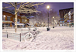 """Print two of a four part series entitled: """"Winter on the Square"""".  Please see the """"Fine Art   Artist Series"""" Gallery for the companion pieces."""