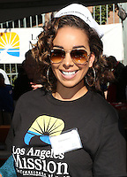 Los Angeles, CA - NOVEMBER 23: Gloria Govan, At Los Angeles Mission Thanksgiving Meal For The Homeless At Los Angeles Mission, California on November 23, 2016. Credit: Faye Sadou/MediaPunch
