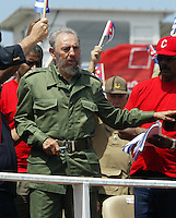 Cuban President, Fidel Castro, pictured during a rally at la Plaza de la Revolucón in Havana, Cuba om May 1, 2006.. Credit: Jorge Rey/MediaPunch