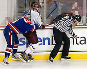 Terrence Wallin (UML - 9), Patrick Wey (BC - 6) - The Boston College Eagles defeated the visiting University of Massachusetts Lowell River Hawks 6-3 on Sunday, October 28, 2012, at Kelley Rink in Conte Forum in Chestnut Hill, Massachusetts.