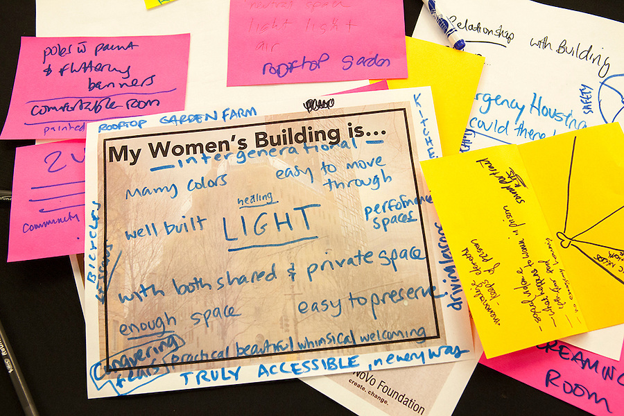 A meeting to brainstorm and share ideas about the future of the Women's Building