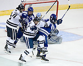 Chad Ziegler (Yale - 59), Adam McKenzie (Air Force - 6), Kenny Agostino (Yale - 18), Brad Sellers (Air Force - 3) - The Yale University Bulldogs defeated the Air Force Academy Falcons 2-1 (OT) in their East Regional Semi-Final matchup on Friday, March 25, 2011, at Webster Bank Arena at Harbor Yard in Bridgeport, Connecticut.