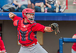 7 March 2015: St. Louis Cardinals catcher Travis Tartamella in Spring Training action against the Washington Nationals at Space Coast Stadium in Viera, Florida. The Cardinals fell to the Nationals 6-5 in Grapefruit League play. Mandatory Credit: Ed Wolfstein Photo *** RAW (NEF) Image File Available ***