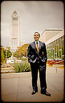 Los Angeles Mayor Antonio Villaraigosa in downtown LA.