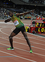 Usain Bolt at the Sainsbury Anniversary Games, Olympic Stadium, London England,Saturday 27th July 2013-Copyright owned by Jeff Thomas Photography-www.jaypics.photoshelter.com-07837 386244. No pictures must be copied or downloaded without the authorisation of the copyright owner.