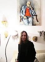 Carmen Llera scrittrice spagnola, ultima moglie di Alberto Moravia. la foto é stata scattata  nell'Associazione Fondo Alberto Moravia Roma 16 marzo 2017. Presidente dell'Associazione è Dacia Maraini. © Leonaerdo Cendamo