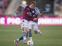 Matthew Lowton of Aston Villa during a match between Aston Villa FC and Philadelphia Union at PPL Park in Chester, Pennsylvania, USA on Wednesday July 18, 2012. (photo - Mat Boyle)