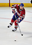 21 September 2009: Montreal Canadiens' defenseman Andrei Markov in action during a pre-season game against the Pittsburgh Penguins at the Bell Centre in Montreal, Quebec, Canada. The Canadiens edged out the defending Stanley Cup Champions 4-3. Mandatory Credit: Ed Wolfstein Photo