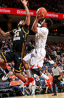 CHARLOTTESVILLE, VA- DECEMBER 6: Ryan Pearson #24 of the George Mason Patriots defends Jontel Evans #1 of the Virginia Cavaliers during the game on December 6, 2011 at the John Paul Jones Arena in Charlottesville, Virginia. Virginia defeated George Mason 68-48. (Photo by Andrew Shurtleff/Getty Images) *** Local Caption *** Jontel Evans;Ryan Pearson