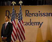 Chicago, Il - December 16, 2008 -- United States President-elect Barack Obama announces the nomination of Chicago School Chief Arne Duncan to be his Secretary of Education at a news conference at Dodge Renaissance Academy on Chicago's West Side on Tuesday, December 16, 2008..Credit: Ralf-Finn Hestoft - Pool via CNP