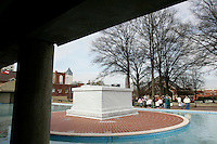 People visit the tomb of Dr. Martin Luther King Jr. and his wife, Coretta Scott King, at the Martin Luther King Jr. National Historic Site.<br />