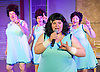 The Flannelettes <br /> by Richard Cameron <br /> at the King's Head Theatre, London, Great Britain <br /> Press photocall <br /> 15th May 2015 <br /> Geoff Leesley as George<br /> Suzan Sylvester as Brenda<br /> Celia Robertson as Jean <br /> Emma Hook as Delie<br /> <br /> Photograph by Elliott Franks <br /> Image licensed to Elliott Franks Photography Services