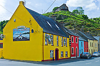 Brightly painted traditional Furlong's Bar at Passage East in County Waterford, Ireland