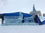 Ice sculpture at the Forks, Winnipeg, Manitoba, Canada.