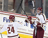 Bill Arnold (BC - 24), Kevin Hayes (BC - 12) - The Boston College Eagles defeated the visiting University of New Hampshire Wildcats 5-2 on Friday, January 11, 2013, at Kelley Rink in Conte Forum in Chestnut Hill, Massachusetts.