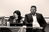 Sonia Alfano (European MP for Italia Dei Valori and President of the National Association of the Mafia's Victims) and Ignazio Cutrò (Entrepreneur, racket/mafia victim and cooperating witness/judicial collaborator) - London 2011