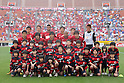 Kashima Antlers team group Line-Up, April 23rd, 2011 - Football : 2011 J.LEAGUE Division 1, 7th Sec match between Kashima Antlers 0-3 Yokohama Marinos at National Stadium, Tokyo, Japan. The J.League resumed on Saturday 23rd April after a six week enforced break following the March 11th Tohoku Earthquake and Tsunami. All games kicked off in the daytime in order to save electricity and title favourites Kashima Antlers are still unable to use their home stadium which was damaged by the quake. Velgata Sendai, from Miyagi, which was hard hit by the tsunami came from behind for an emotional 2-1 victory away to Kawasaki. (Photo by Akihiro Sugimoto/AFLO SPORT) [1080]
