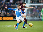 Hearts v St Johnstone&hellip;05.11.16  Tynecastle   SPFL<br />Chris Millar and Don Cowie<br />Picture by Graeme Hart.<br />Copyright Perthshire Picture Agency<br />Tel: 01738 623350  Mobile: 07990 594431
