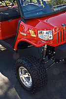 Golf Cart Red Truck, Custom, Classic, Unique,