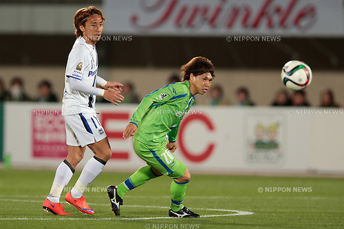 Masataka Kani (Bellmare), <br /> APRIL 18, 2015 - Football /Soccer : <br /> 2015 J1 League 1st stage match <br /> between Shonan Bellmare 0-2 Gamba Osaka <br /> at Shonan BMW Stadium Hiratsuka, Kanagawa, Japan. <br /> (Photo by AFLO SPORT)