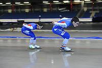 SCHAATSEN: HEERENVEEN: 19-06-2014, IJsstadion Thialf, Zomerijs training, ©foto Martin de Jong