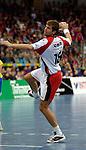 Handball Maenner Laenderspiel, Nationalmannschaft Deutschland - Schweden (31:31) Preussag Arena Hannover (Germany) Daniel Stephan (GER) zieht ab